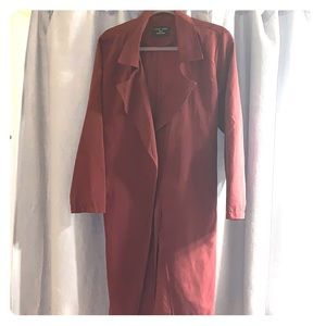 Long Burgundy trench coat
